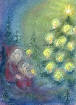 Sabine Reinink. Am Weihnachtsbaum
