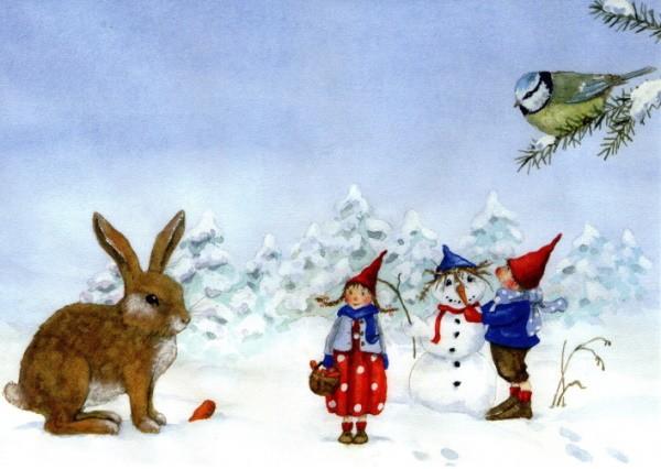 Daniela Drescher. Pippa und Pelle im Schnee