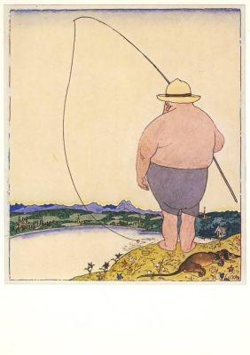 Karl Arnold. Der Angler. KK