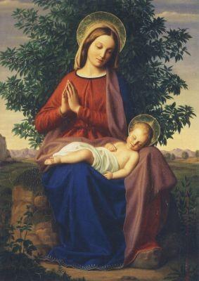 Julius Schnorr von Carolsfeld. Madonna mit Kind