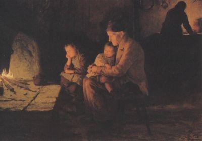 Albert Anker. Bei den Grosseltern, 1892. KK