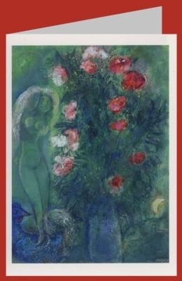 Marc Chagall. Paar am grünen Himmel, 1950