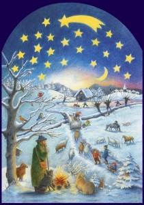 Gerstenmaier, U. Winterzene. Adventskalender