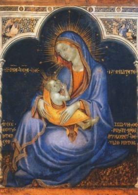 Bartolomeo Pellerano da Camogli. Madonna der Demut, 1346