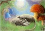 Dorothea Schmidt. Mäuse mit Mond. KK