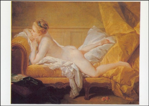 Francois Boucher. Ruhendes Mädchen, 1751. KK