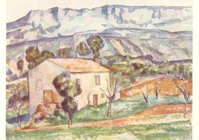 Cézanne, P. Das Haus am Berg. KK