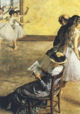 Edgar Degas. Ballettunterricht. KK