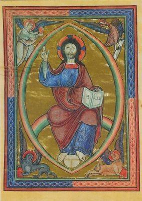 Christus in der Mandoria. Folkungepsalterium. KK