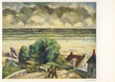 Frans Masereel. Häuser in den Dünen, 1889 (2.Wahl)