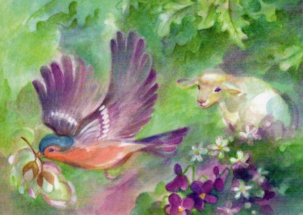 Marie Laure Viriot. Ostern im Wald