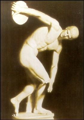 Griechisch. Diskuswerfer von Myron, um 450 v. Chr. KK