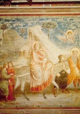 Giotto di Bondone. Flucht nach Ägypten. KK