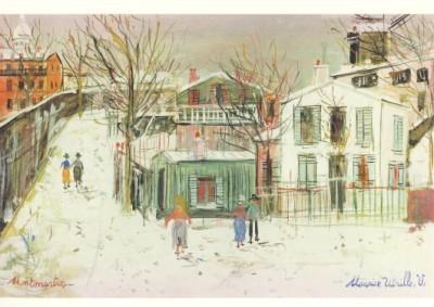 Utrillo, M. Montmartre im Schnee, ca. 1947
