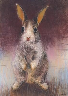 Loes Botman. Kaninchen, 2015 Pastell