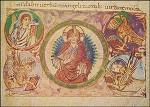 Verklärter Christus im viergestaltigen Evangelium. KK