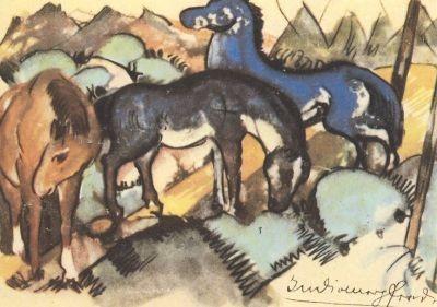 Franz Marc. Indianerpferde