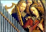 Eyck, H. u. J. Musizierende Engel. Ausschnitt. KK