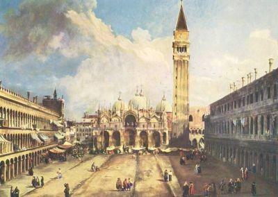 Antonio Canal. (Canaletto). Piazza S. M. i. Venedig. KK