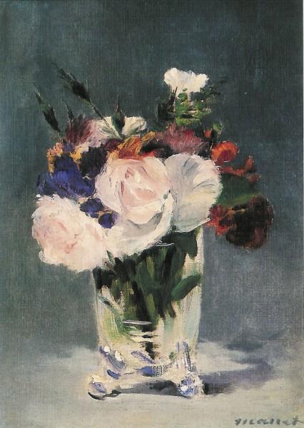 Edouard Manet. Blumen in einer Kristallvase, 1882. KK