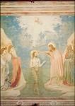 Giotto di Bondone. Taufe Christi, ca. +- A4. KD