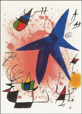 Joan Miró. Der blaue Stern, 1972. KK