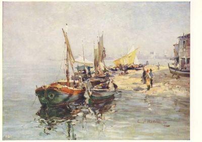 Wilhelm Thelen. Alte Barken in den Lagunen