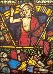 Auferstehung. Älteres Bibelfenster/Kölner Dom 1250-1260. KK