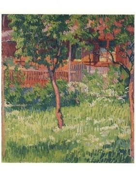 Giacometti, Giovanni. Der Obstgarten in Stampa, 1910. KK