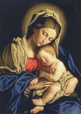 Sassoferrato. Madonna und Kind