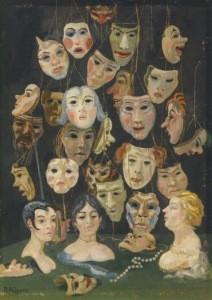 Nägele, Reinhold. Masken, 1934