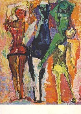 Marini, M. Pferd mit Gauklern, 1956
