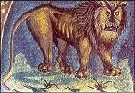 Evangelist Markus, Löwe, Ausschnitt. Mosaik. KK