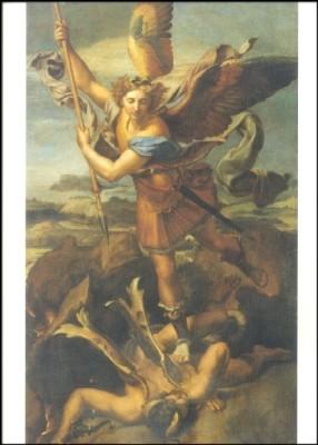 Raffael. Hl. Michael, den Drachen tötend, KK