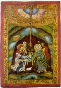 Russisch. Geburt Christi 17. Jh. KK