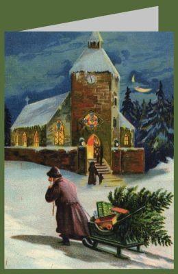 Anonymer Künstler. Fröhliche Weihnachten, um 1905