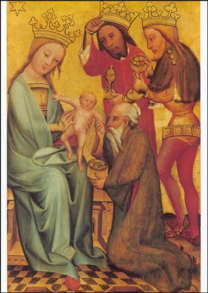 Meister Bertram. Die Anbetung der Heiligen Drei Könige,1380