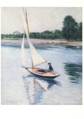 Gustave Caillebotte. Segelboot auf der Seine bei Argenteuil