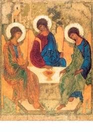Rublew, A. Die Heilige Dreifaltigkeit, Ikone um 1411. KK