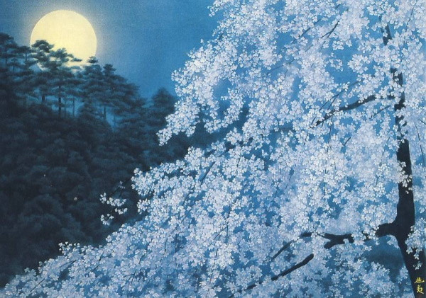Higashiyama, Kaii. Kirschblüten am Abend, 1982. KK