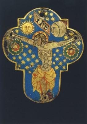 Spanisches Altarkreuz aus dem Mittelalter (Ausschnitt)