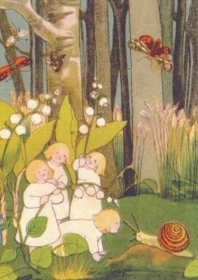 Sybille von Olfers. Beim Blumenreigentanz. KK