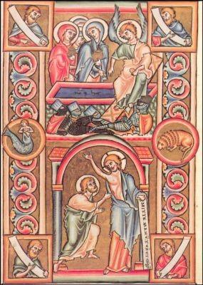 Ostern, Evangelistar 1194. KK