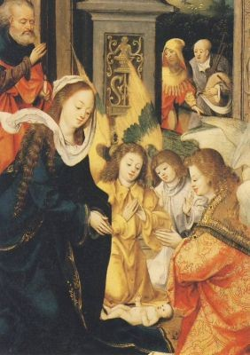 Antwerper Meister. Geburt Christi. KK
