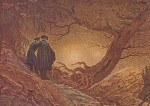 Caspar-David Friedrich. Zwei Männer i.Betrachtung d.Mondes