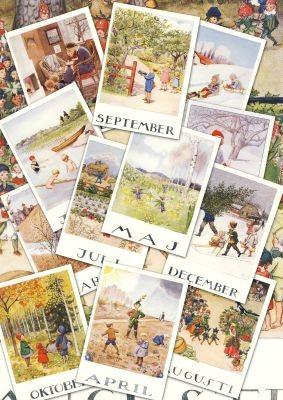Beskow. Monatskarten 1-12 Set