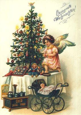 Historisch. Weihnachtsbescherung