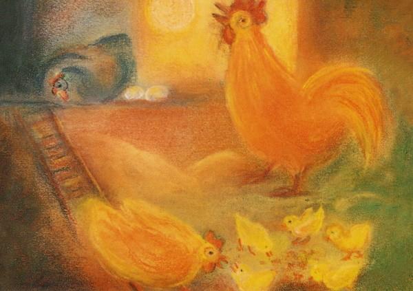 Ruth Elsässer. Hühner - von Sonntag.