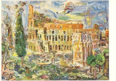 Kokoschka, O. Rom, Das Kolosseum. KK