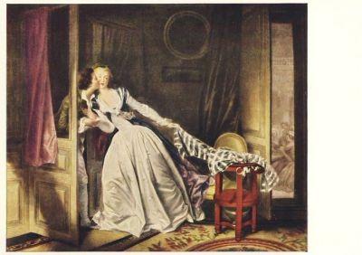Jean-Honoré Fragonard. Der Kuß. KK